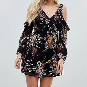 Band Of Gypsies Boho Abstract Floral Dress